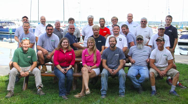 Irish Boat Shop Charlevoix Michigan Crew