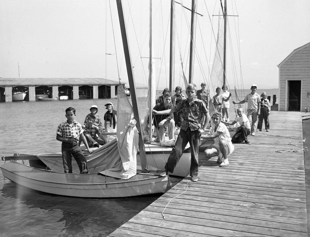 Edith Irish Teaching Sailing